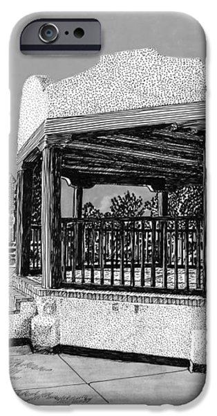 Old Mesilla Plaza and Gazebo iPhone Case by Jack Pumphrey