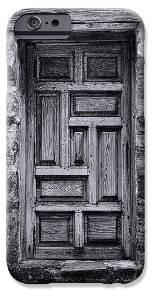 Ruin iPhone Cases - Old Mission San Jose Door iPhone Case by Stephen Stookey