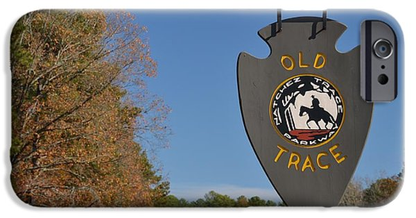 The Horse iPhone Cases - Old Natchez Trace Sign iPhone Case by Luke Pickard