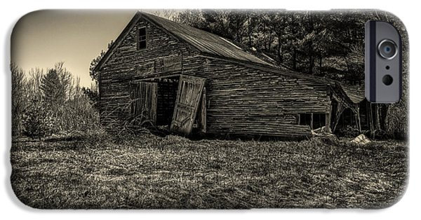 Old Barns iPhone Cases - Old New England Barn iPhone Case by Bob Orsillo