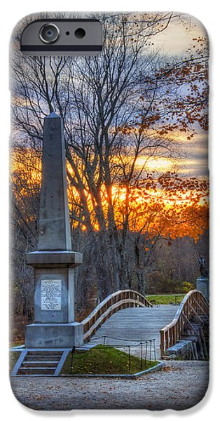 Concord Massachusetts iPhone Cases - Old North Bridge - Concord MA iPhone Case by Joann Vitali