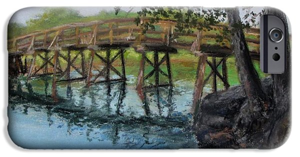 Jack Skinner iPhone Cases - Old North Bridge in Pastel iPhone Case by Jack Skinner