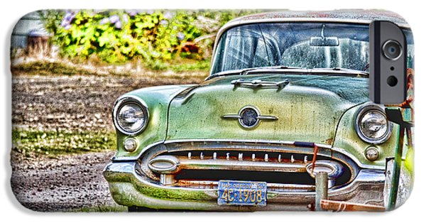 Old Cars iPhone Cases - Old Olds iPhone Case by Flamingo Graphix John Ellis