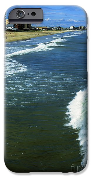 Maine Beach iPhone Cases - Old Orchard Beach iPhone Case by Thomas R Fletcher