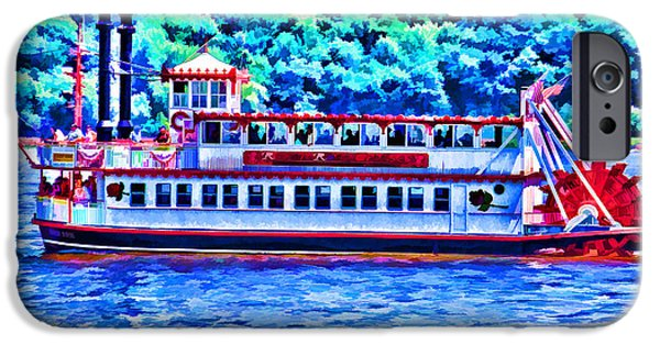 Hudson River iPhone Cases - Old Paddleboat iPhone Case by Roberta Byram