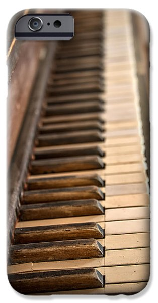 Piano iPhone Cases - Old Piano iPhone Case by Leland D Howard