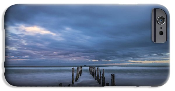 Beach Landscape iPhone Cases - Old Pier at St Clair 2 iPhone Case by Robert Green