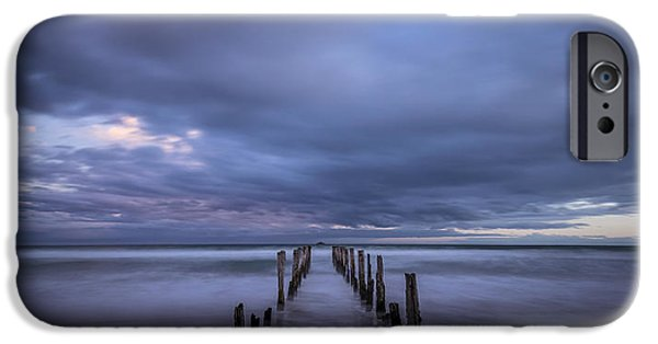 Beach Landscape iPhone Cases - Old Pier at St Clair 3 iPhone Case by Robert Green