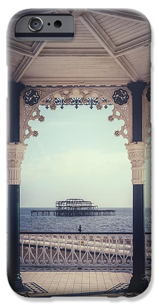 Atmospheric iPhone Cases - old pier Brighton iPhone Case by Joana Kruse