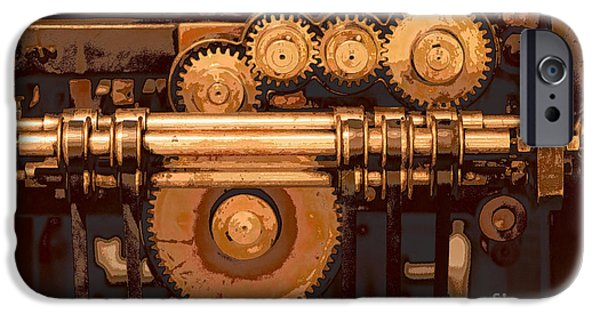 Close Up Mixed Media iPhone Cases - Old Printing Press iPhone Case by Ari Salmela