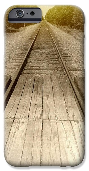 Torn iPhone Cases - Old Railroad iPhone Case by Cody Redden