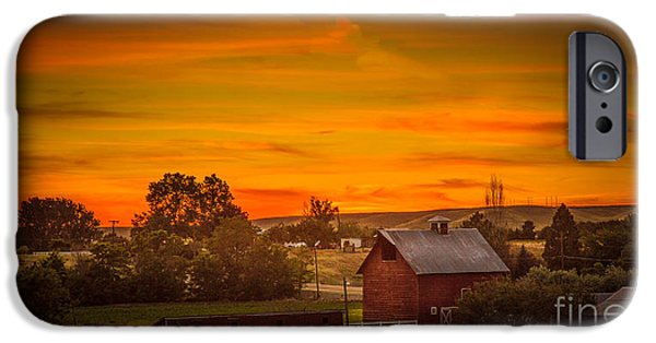 Old Barn iPhone Cases - Old Red Barn iPhone Case by Robert Bales