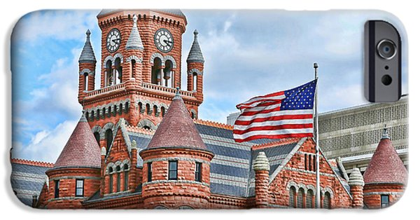 Old Glory iPhone Cases - Old Red iPhone Case by Stephen Stookey