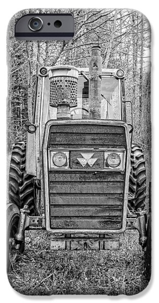 Barns iPhone Cases - Old Reliable Tractor iPhone Case by Edward Fielding