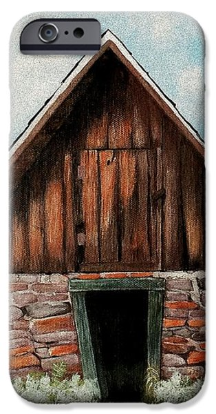 Architecture Digital iPhone Cases - Old Root House iPhone Case by Anastasiya Malakhova