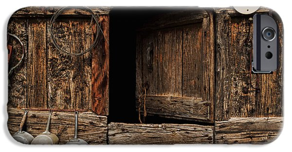 Old Barn iPhone Cases - Old Rustic Barn iPhone Case by Thomas Jarrand