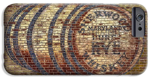 House Md Art iPhone Cases - Old Sherwood Distillery Logo on Former Bonded Warehouse - Westminster Carroll County Maryland iPhone Case by Michael Mazaika