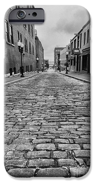 Scott Nelson Photographs iPhone Cases - Old St. Louis Street iPhone Case by Scott Nelson