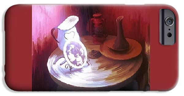 Old Pitcher Paintings iPhone Cases - Old Stone Wheel iPhone Case by Patty Weiler