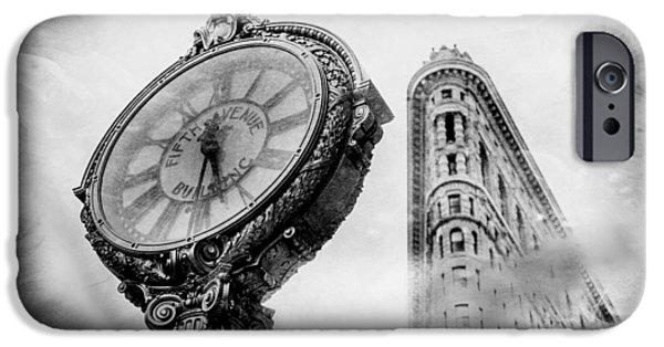 Clock iPhone Cases - Old Times Sake iPhone Case by Az Jackson