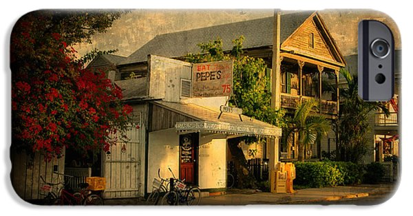 City Scape Photographs iPhone Cases - Old Town -  Key West Florida iPhone Case by Thomas Schoeller