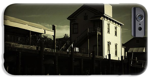Historic Home iPhone Cases - Old Town Sacramento California Cityscape iPhone Case by Christine Till
