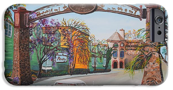 Old Town Temecula iPhone Cases - Old Town Temecula iPhone Case by Eric Johansen