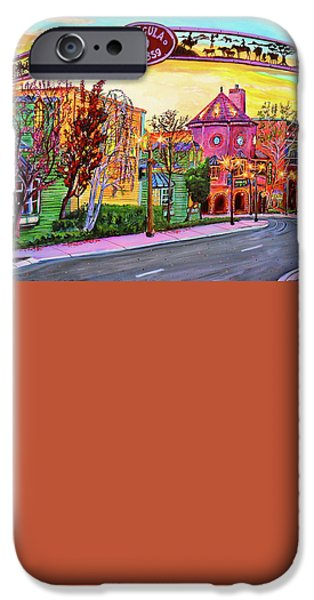 Old Town Temecula iPhone Cases - Old Town temecula iPhone Case by John Leclerc
