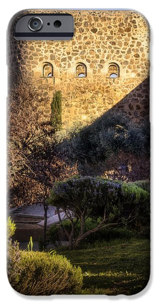Built Structure iPhone Cases - Old Town Walls Toledo Spain iPhone Case by Joan Carroll
