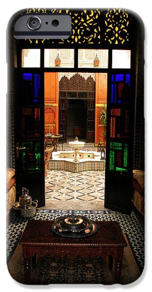 Fez iPhone Cases - Old Traditional Riad In Fez iPhone Case by Ralph A  Ledergerber-Photography