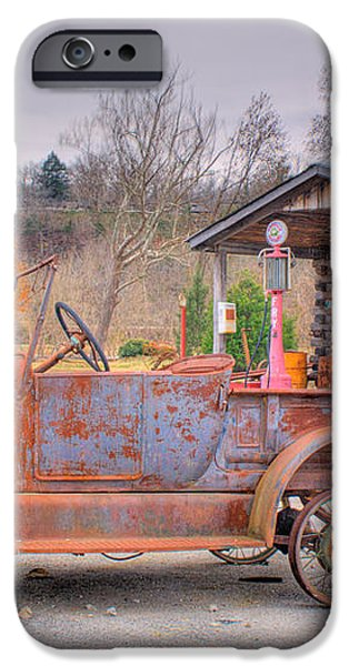 Old Truck and Gas Filling Station iPhone Case by Douglas Barnett