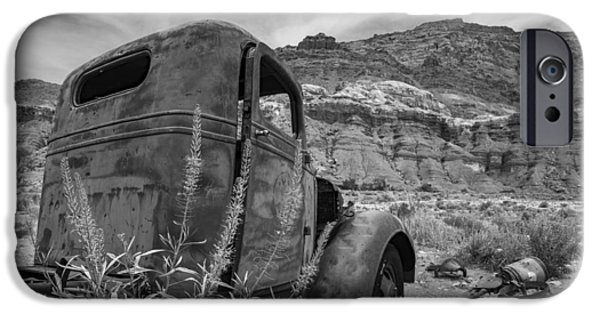 Old Cars iPhone Cases - Old Truck at Lees Ferry iPhone Case by Rachel Cash