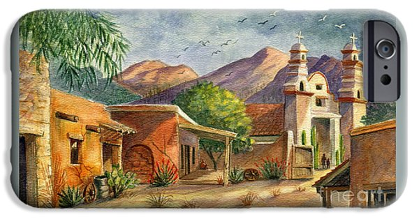 Set iPhone Cases - Old Tucson iPhone Case by Marilyn Smith