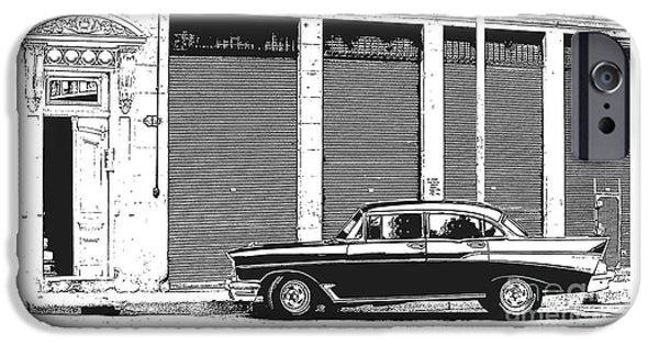 Havana iPhone Cases - Old Vintage Car in Havana iPhone Case by Edward Fielding