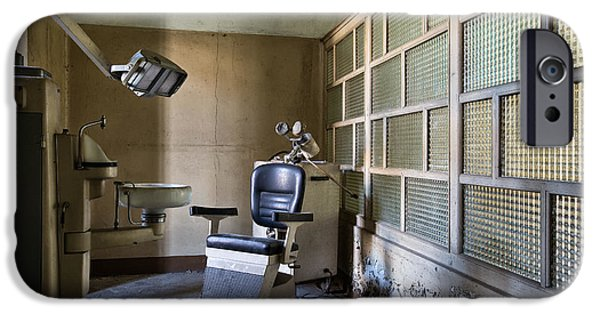 Creepy iPhone Cases - Old Vintage Dentist Chair - Urban Exploration iPhone Case by Dirk Ercken