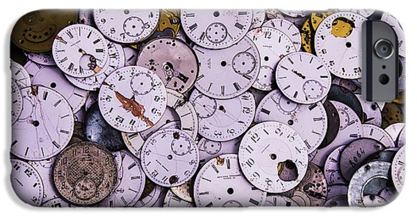 Mechanism iPhone Cases - Old Watch Faces iPhone Case by Garry Gay