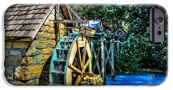 Tree Art Print iPhone Cases - Old Watermill iPhone Case by Jimmy Ostgard