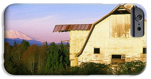 Old Barn iPhone Cases - Old White Barn iPhone Case by Storm Smith