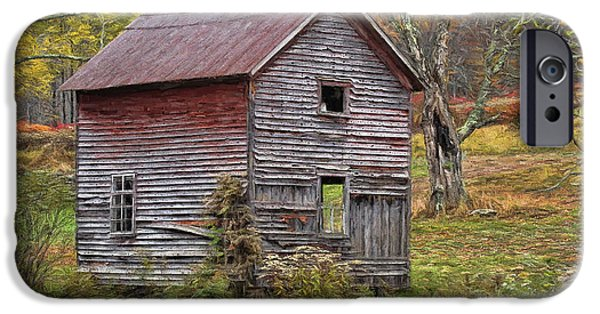 Old Barns iPhone Cases - Old With Character iPhone Case by Deborah Benoit
