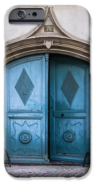 French Open iPhone Cases - Old Wooden Door iPhone Case by Elly Schuurman