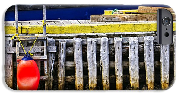 Newfoundland iPhone Cases - Old wooden pier in Newfoundland iPhone Case by Elena Elisseeva