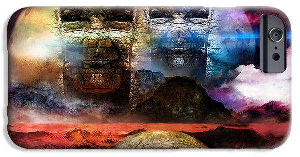 Virtual iPhone Cases - Old Worlds And Haunted Shadows  iPhone Case by Daniel  Arrhakis