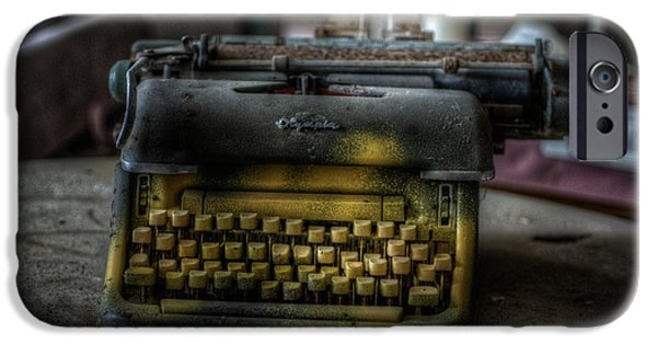 Creepy iPhone Cases - Old writer  iPhone Case by Nathan Wright