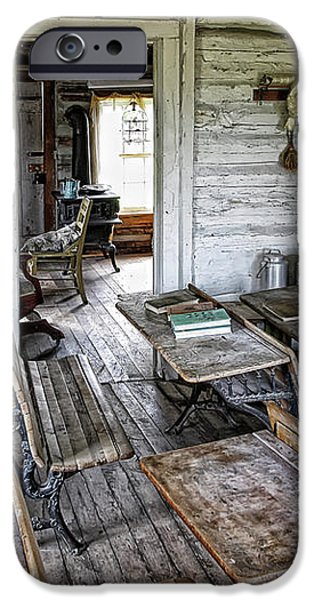 OLDEST SCHOOL HOUSE c. 1863 - MONTANA TERRITORY iPhone Case by Daniel Hagerman