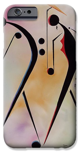 Jamaican Music iPhone Cases - Ole Folks iPhone Case by Ikahl Beckford