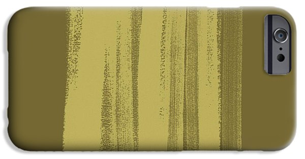 Abstract Expressionism iPhone Cases - Olive on Olive 1 iPhone Case by Julie Niemela