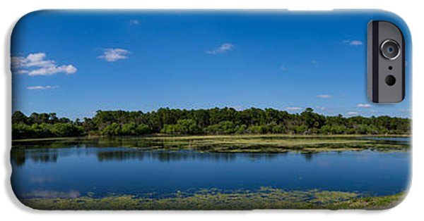 Charlotte iPhone Cases - Ollies Pond In Port Charlotte, Florida iPhone Case by Panoramic Images