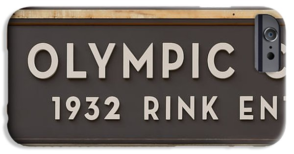 Figure iPhone Cases - Olympic Center 1932 Rink Entrance iPhone Case by Stephen Stookey