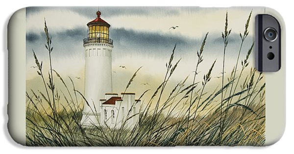Landscape Framed Prints iPhone Cases - Olympic Coast Sentinel iPhone Case by James Williamson