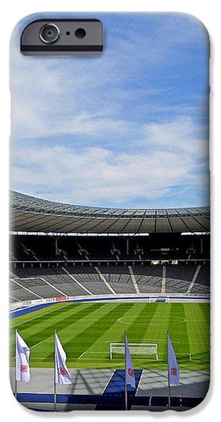 Olympic Stadium Berlin iPhone Case by Juergen Weiss